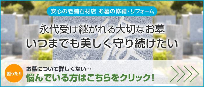 下伊那郡・飯田市のお墓のリフォームは仲川石材へ